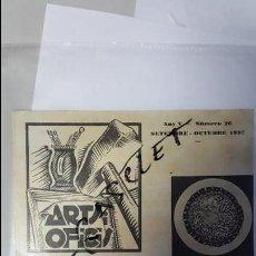 Coleccionismo: ANTIGUO BOLLETIN D. ASSOCIAÇIO D, ALUMNES I EX - ALUMNES DE L. ESCOLA MPAL, D,ARTS I OFICIS -. Lote 62164216