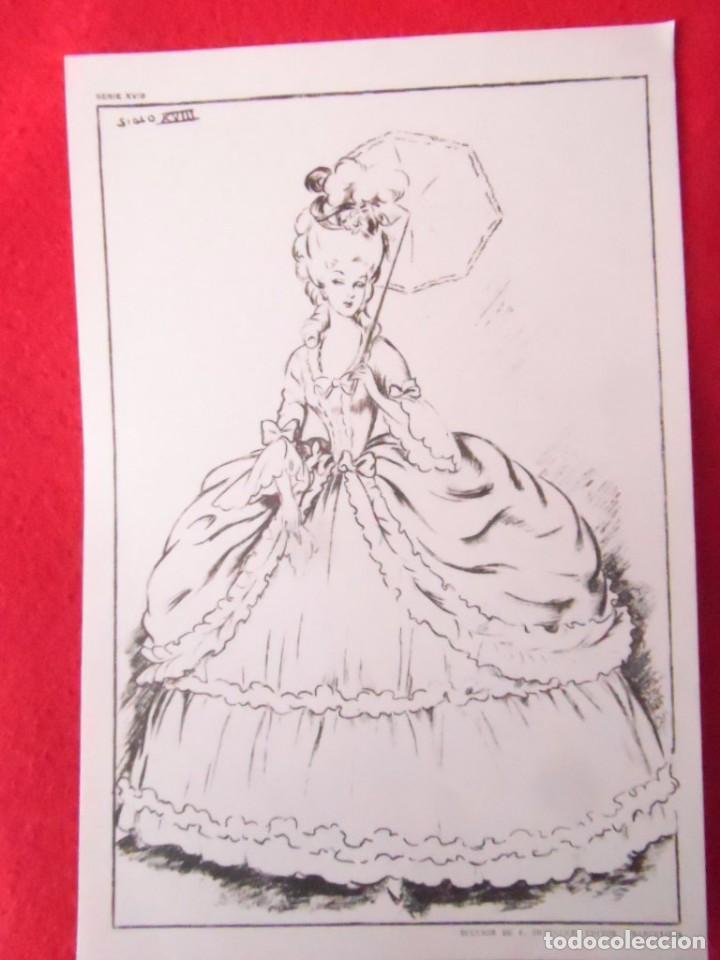 Lamina Dibujo Vestido Mujer Siglo Xviii