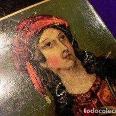 Coleccionismo: ANTIGUA TABAQUERA POLICROMADA - PPIOS S XIX. CAJA PARA CIGARROS - PAPEL MACHÉ - DOBLE IMAGEN - RARA. Lote 62301656