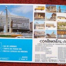 Coleccionismo: BILLETE AUTOBÚS SANTANDER-BURGOS CONTINENTAL AUTO CAJA DE AHORROS DEL CÍRCULO CATÓLICO 1993. Lote 62394280