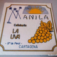 Coleccionismo: POSAVASOS MANILA CAFETERIA LA UVA. Lote 62437484