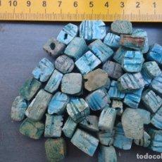Coleccionismo: ESCARABAJO EGIPTO EGIPCIO AMULETO 12 ESCARABAJOS PARA COLGATE COLOR TURQUESA ESMALTADOS 12 UNIDADES. Lote 62525740