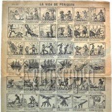 Coleccionismo: ALELUYA - AUCA LA VIDA DE PERIQUIN Nº 68 FINALES DEL SIGLO XIX (ALELUYAS). Lote 62545176