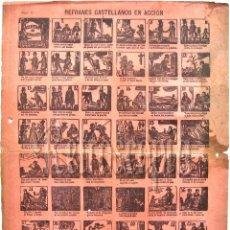 Coleccionismo: ALELUYA - AUCA REFRANES CASTELLANOS EN ACCION Nº 11 FINALES DEL SIGLO XIX (ALELUYAS). Lote 62548140