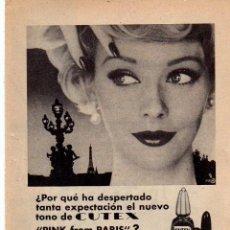 Coleccionismo: ANUNCIO PUBLICIDAD MAQUILLAJE CUTEX. Lote 62557132