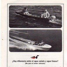 Coleccionismo: ANUNCIO PUBLICIDAD MOTOR FUERABORDA JOHNSON. Lote 62560296