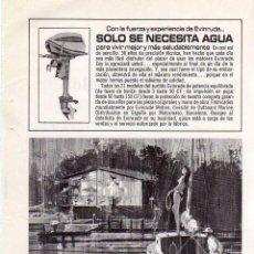 Coleccionismo: ANUNCIO PUBLICIDAD MOTOR FUERABORDA EVINRUDE. Lote 62560436