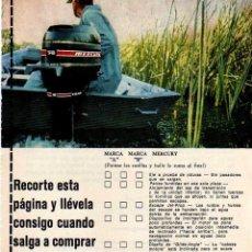 Coleccionismo: ANUNCIO PUBLICIDAD MOTOR FUERABORDA MERCURY. Lote 62560884