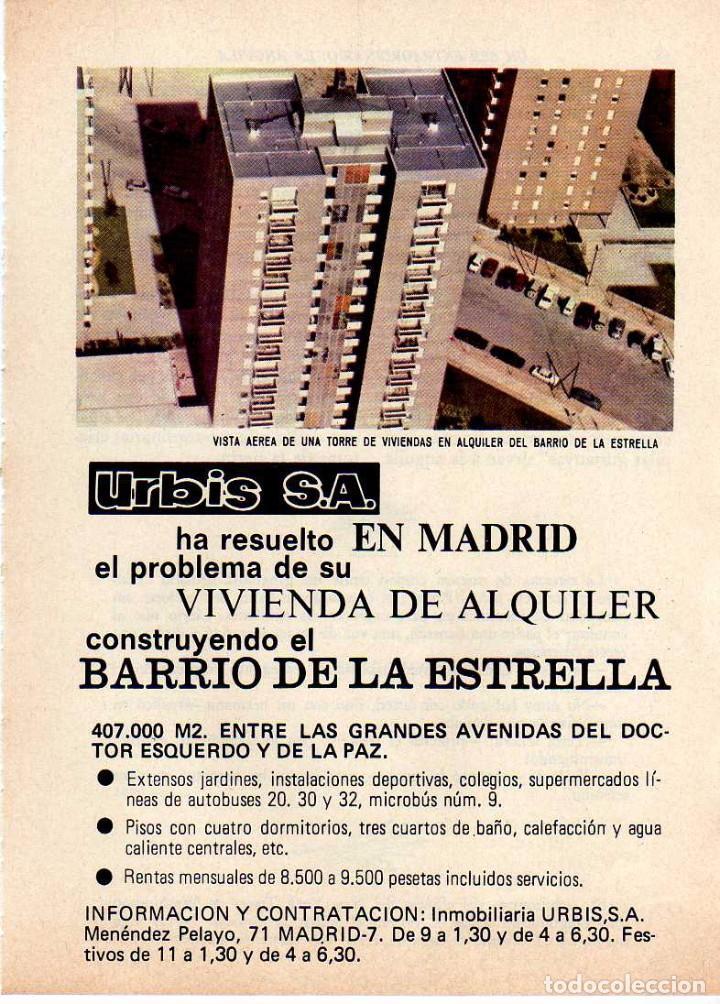 ANUNCIO PUBLICIDAD INMOBILIARIA URBIS SA (Coleccionismo - Laminas, Programas y Otros Documentos)