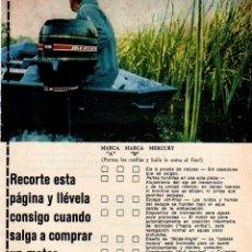 Coleccionismo: ANUNCIO PUBLICIDAD MOTOR FUERABORDA MERCURY. Lote 62561064
