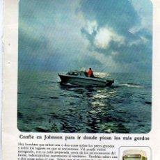 Coleccionismo: ANUNCIO PUBLICIDAD MOTOR FUERABORDA JOHNSON. Lote 62561212