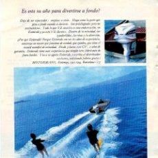Coleccionismo: ANUNCIO PUBLICIDAD MOTOR FUERABORDA EVINRUDE. Lote 62598560