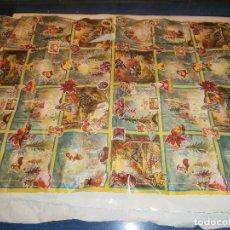 Coleccionismo: ANTIGUO PLIEGO DE PAPEL DE REGALO VINTAGE, NAVIDAD. Lote 62783788