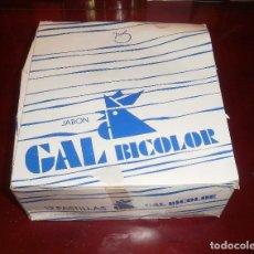 Coleccionismo: JABÓN. CAJA JABONES GAL BICOLOR. AÑOS 80, COMPLETA, 12 JABONES. Lote 62924460