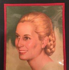 Coleccionismo: 1952 CARTA/MENU GRILL RESTAURANT ESPAÑOL - RETRATO OFICIAL EVITA PERON - JULIO MANTEROLA. Lote 63134100