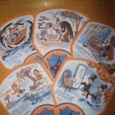 Coleccionismo: LOTE DE 5 PAYPAYS ANTIGUOS CASA CARRERES BADAJOZ - AÑOS 50. Lote 63157756