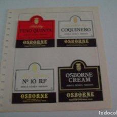 Coleccionismo: ETIQUETA LICOR 2235: OSBORNE - ESPAA. Lote 55681665