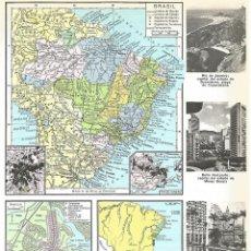 Coleccionismo: LAMINA 039: MAPAS DE BRASIL. Lote 55642316
