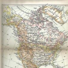 Coleccionismo: LAMINA 023: MAPA DE AMERICA DEL NORTE. Lote 55642558