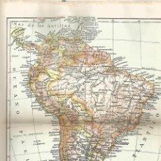 Coleccionismo: LAMINA 024: MAPA DE AMERICA DEL SUR. Lote 55642559