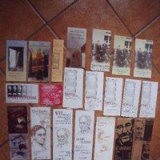 Coleccionismo: BAEZA.-ANTONIO MACHADO.-SEMANA MACHADIANA.-LOTE DE 25 FOLLETOS DIFERENTES.. Lote 63471040