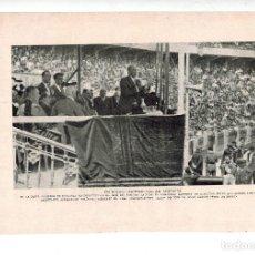 Coleccionismo: AÑO 1932 RECORTE PRENSA LERROUX PLAZA TOROS ZARAGOZA FOTOGRAFIA CARLOS PEREZ DE ROZAS. Lote 63547872