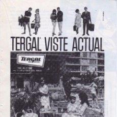 Coleccionismo: ANUNCIO PUBLICIDAD PRENDAS TERGAL-MOTORES MATACAS. Lote 63681015