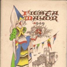 Coleccionismo: PROGRAMA FIESTA MAYOR IGUALADA DIAS 20 Y 23 AL 27 AGOSTO 1949. PORTADA DE AMADEO FREIXAS. Lote 63801507
