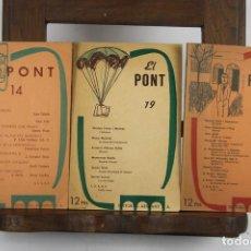 Coleccionismo: 5001- REVISTA EL PONT. VV.AA. EDIT. ARIMANY. AÑOS 50. 9 NUMEROS. Lote 44086263