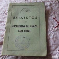 Coleccionismo: ESTATUTOS DE LA COOPERATIVA DEL CAMPO CAJA RURAL-COOPERTATIVA DEL CAMPO DE SANTANDER-AÑO 60. Lote 64118559