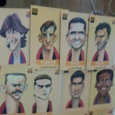 Coleccionismo: 22 LÁMINAS DE CARICATURAS JUGADORES DEL BARÇA DEL 1994 VER FOTOS. Lote 64260823
