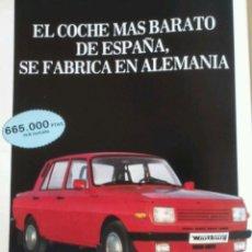 Colecionismo: PUBLICIDAD AUTOMOVIL WARTBURG TRABANT DE 1986. Lote 64641907
