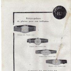 Coleccionismo: ANUNCIO PUBLICIDAD AÑO 1919-RELOJES COPPEL. Lote 64869631