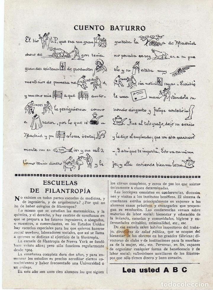 Coleccionismo: ANUNCIO PUBLICIDAD AÑO 1919-RELOJES COPPEL - Foto 2 - 64869631