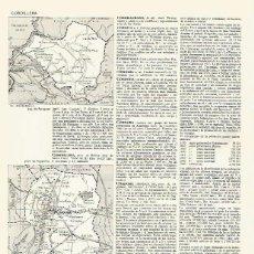 Coleccionismo: LAMINA LAROUSSE 70178: MAPA DEL DEPARTAMENTO DE PARAGUAY Y DE CORDOBA EN ARGENTINA. Lote 64948985