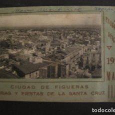 Coleccionismo: FIGUERAS-PROGRAMA FERIAS Y FIESTAS DE LA SANTA CRUZ-MAYO DE 1926-PUBLICIDAD-FOTOS-VER - (V- 7114). Lote 64971383
