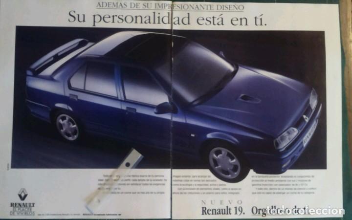 PUBLICIDAD AUTOMOVIL RENAULT 19 DE 1992 (Coleccionismo - Varios)