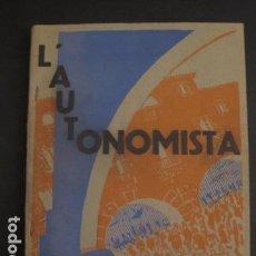 Coleccionismo: GIRONA 1934- L´ AUTONOMISTA - SUPLEMENT LITERARI - MUCHA PUBLICIDAD - VER FOTOS - (V-7181). Lote 65665006