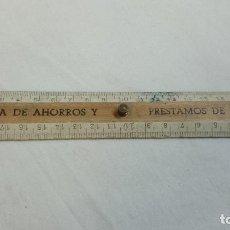 Coleccionismo: REGLA 20 CM CAJA DE AHORROS Y PRÉSTAMOS DE PALENCIA . Lote 65729286
