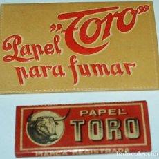 Coleccionismo: TORO.-LIBRO DE TOROS,REPUJADO PERFECTO CON SU LIBRITO DE PAPEL FUMAR MUY ANTIGUO VER. Lote 65737486