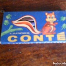 Coleccionismo: LÁPICES DE COLORES CONTÉ CAJA X 6 CORTOS ANTIGUOS IMPECABLES ARGENTINA. Lote 95577202