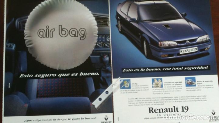 PUBLICIDAD AUTOMOVIL RENAULT 19 16 VÁLVULAS (Coleccionismo - Varios)
