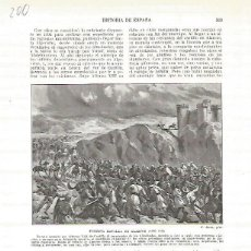 Coleccionismo: LAMINA 4713: BATALLA DE ALARCOS (AO 1195). Lote 58463435