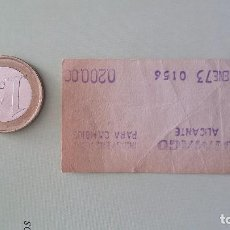 Collectionnisme: TIQUE ( TICKET ) DE SIMAGO - ALICANTE 1973 -. Lote 25319150