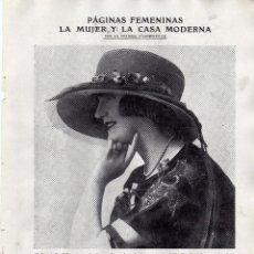 Coleccionismo: RECORTE PRENSA DE 1919-PAGINAS FEMENINAS. Lote 66967334