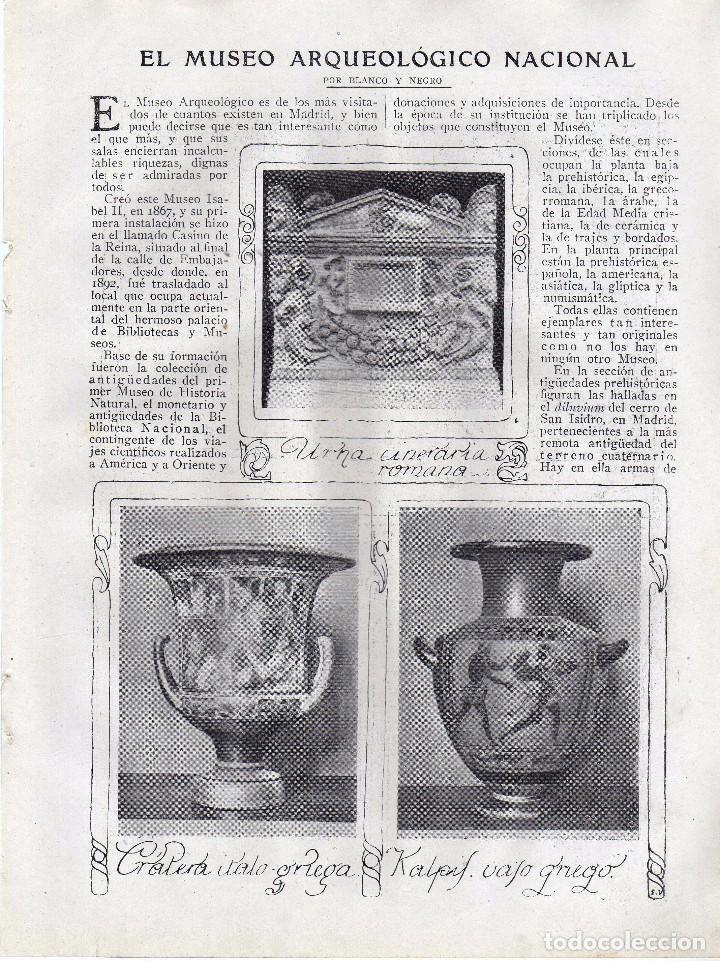 RECORTE PRENSA DE 1919-EL MUSEO ARQUEOLOGICO NACIONAL (Coleccionismo - Laminas, Programas y Otros Documentos)