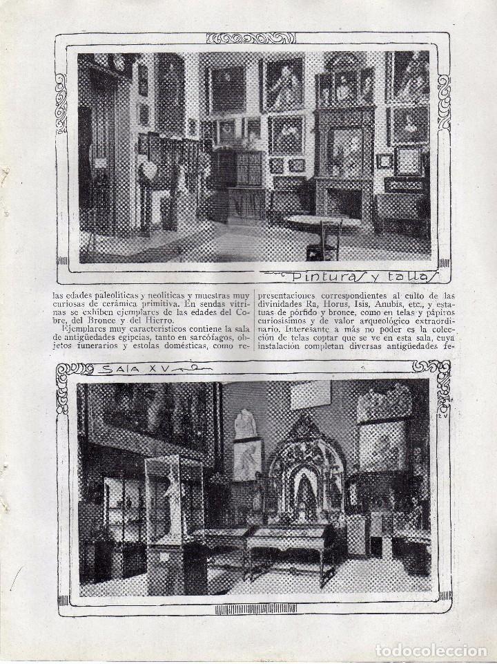 Coleccionismo: RECORTE PRENSA DE 1919-EL MUSEO ARQUEOLOGICO NACIONAL - Foto 2 - 66967790