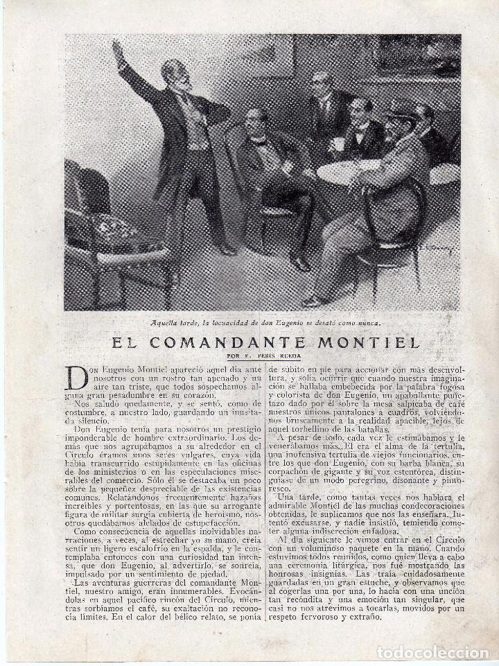 RECORTE PRENSA DE 1919-EL COMANDANTE MONTIEL (Coleccionismo - Laminas, Programas y Otros Documentos)