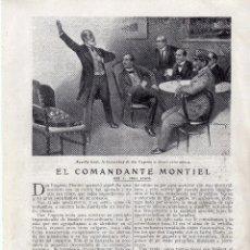 Coleccionismo: RECORTE PRENSA DE 1919-EL COMANDANTE MONTIEL. Lote 67034006