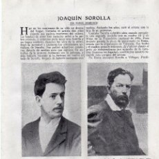 Coleccionismo: RECORTE PRENSA DE 1919-JOAQUIN SOROLLA. Lote 67035282